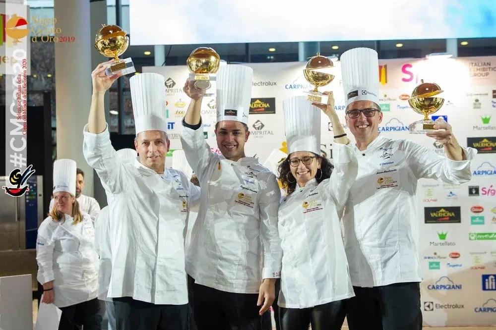 Team Italia della Coppa del Mondo della Gelateria 2020