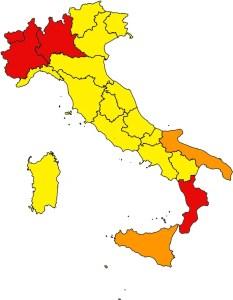 Italia regioni aree