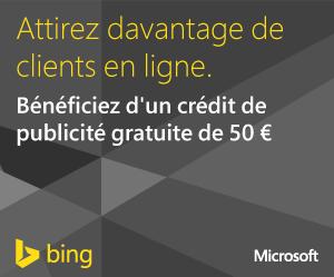 50€ offerts en créant un compte BING