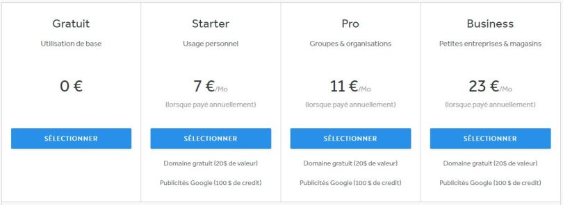 weebly-avis-prix-cout