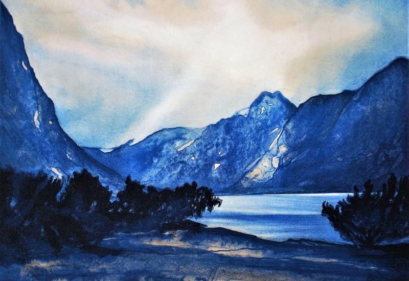 Jøran Flo litografi – Lysning
