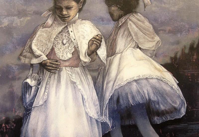 Jøran Flo litografi – Søstre