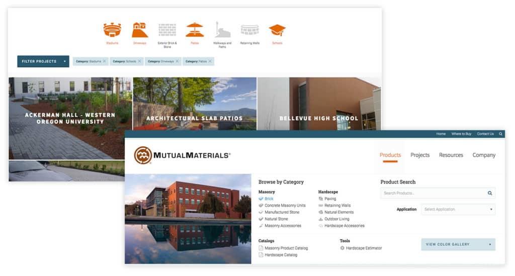 custom web design mockups