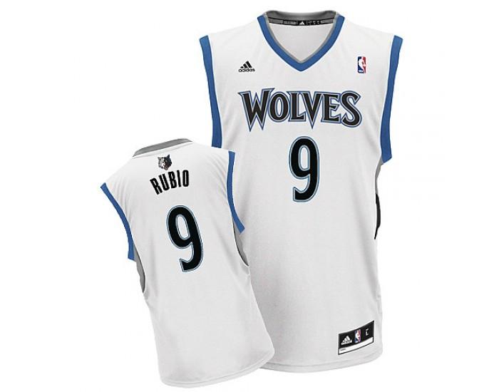 Ricky Rubio Swingman White Minnesota Timberwolves #9 Home ...