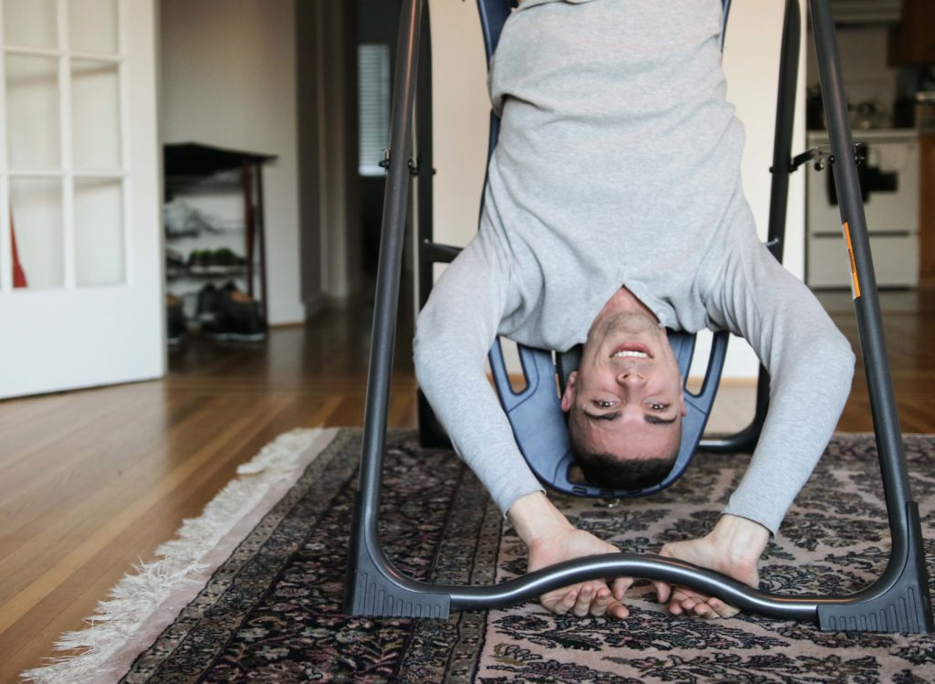 stress busting, inversion table, inversion therapy