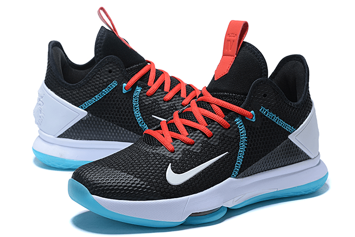 """2020 New Nike LeBron Witness 4 IV EP """"BHM"""" Black/Red/Blue/White For Sale"""