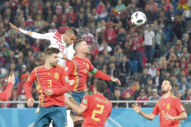 Image result for spain 2-morocco gif