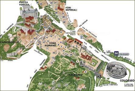 Bildresultat för forum romanum karta
