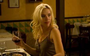 Scarlett Johansson in a restaurant