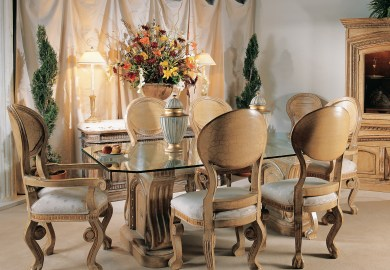 Glass Wood Dining Room Table