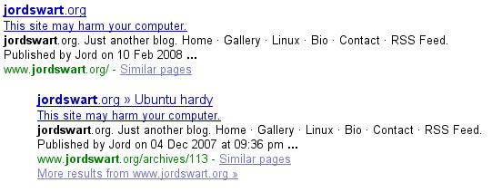 Jordswart.org Malware?