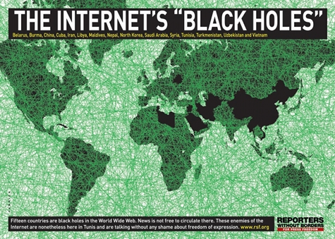Internet's black holes according to RSF