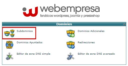 instalar wordpress en subdominio