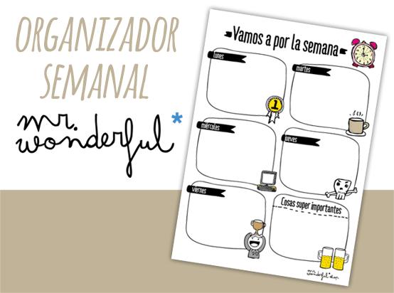 Lee más sobre el artículo Organizador Semanal Mr Wonderful
