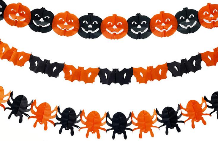 Plantillas halloween para imprimir gratis calabazas brujas y murci lagos para colorear y - Guirlande halloween a imprimer ...