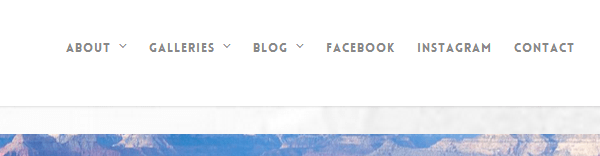 menu para wordpress con enlaces a redes sociales