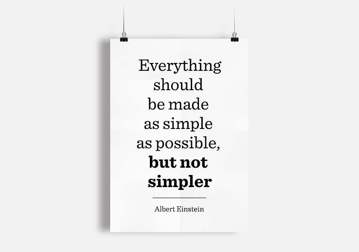 minimalismo albert einstein