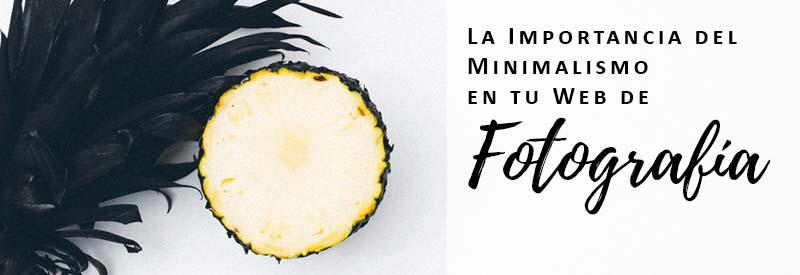minimalismo en tu web de fotografía