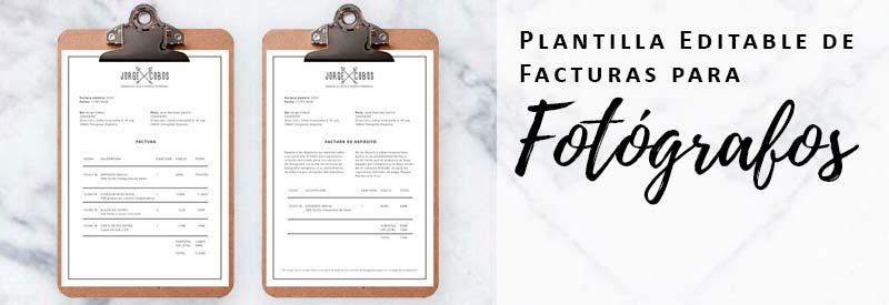 Plantilla Editable de Facturas para Fotógrafos