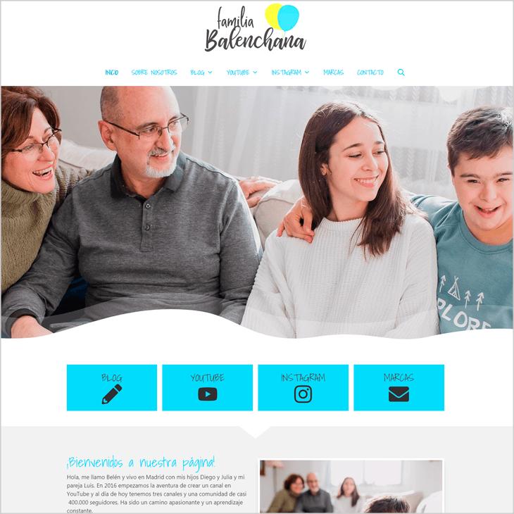 Familia Balenchana cliente de diseño de páginas web