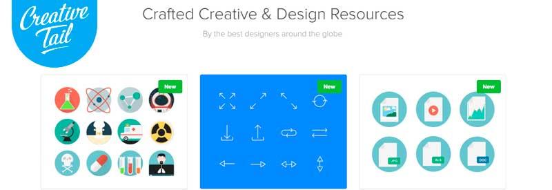 vectores gratis creative tail