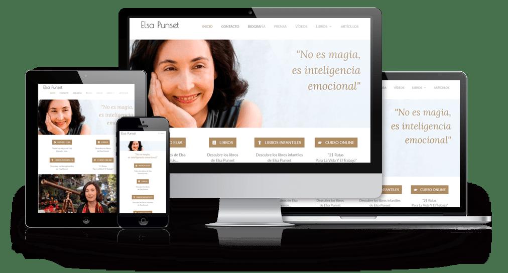 Rediseño de la Web de Elsa Punset - Jorge Cobos