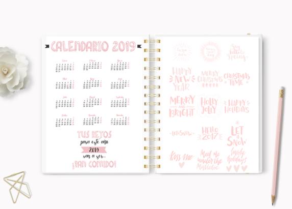 agenda imprimible 2017
