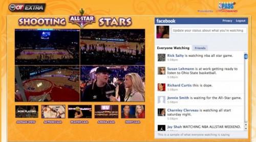 Facebook Live Stream Box en NBA All Stars