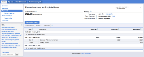 Google Adsense rediseña opción Pagos