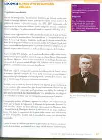 Una de las páginas del libro Nuevo León, historia y geografía dedicadas a Santiago Vidaurri, quien apoyó la intervención francesa y fue colaborador del emperador Maximiliano