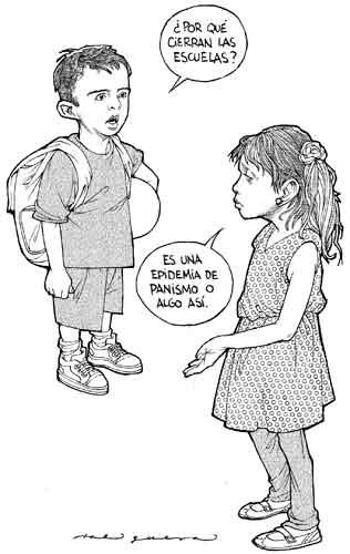 Alergia a la educación, Helguera
