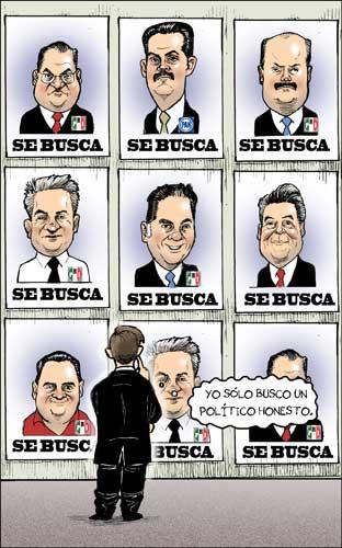 Políticos buscados - Fisgón