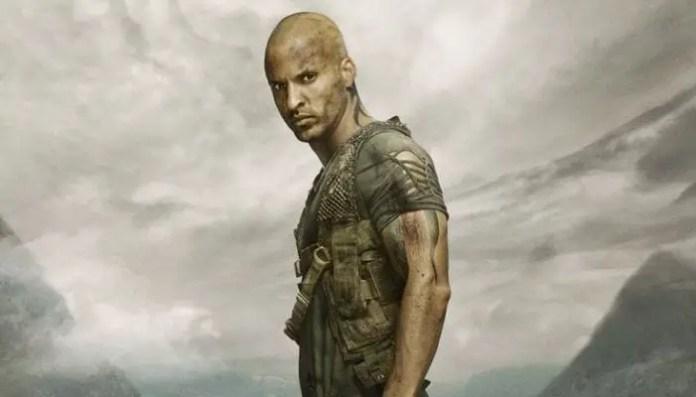Imagem do ator de American Gods em The 100