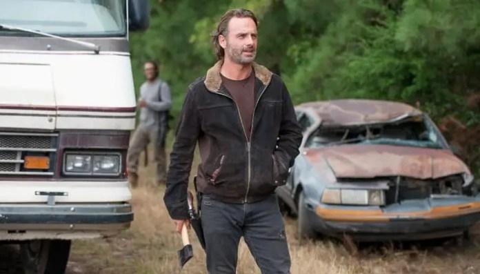 Rick Grimes no final da 6ª temporada de The Walking Dead