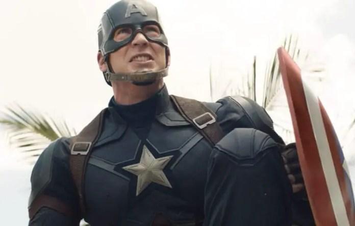 Imagem do Capitão América em filme da Marvel Studios