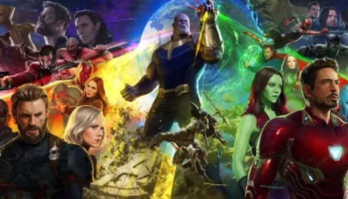 Imagem promocional do filme Vingadores; Guerra Infinita
