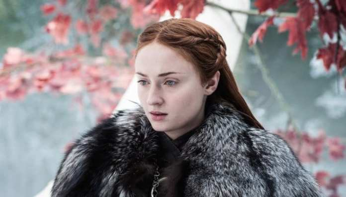 Imagem da atriz Sophie Turner em Game of Thrones