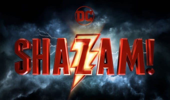 logo do filme Shazam