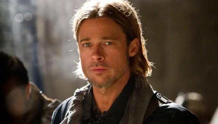 Imagem de Brad Pitt em Guerra Mundial Z