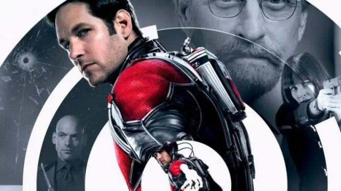 Paul Rudd no pôster do filme Homem-Formiga