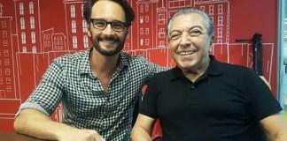 Encontro de Rodrigo Santoro e Mauricio de Sousa