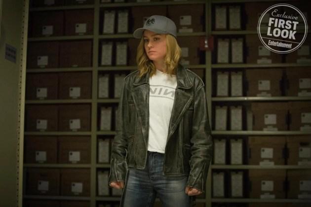 Brie Larson no filme Capitã Marvel