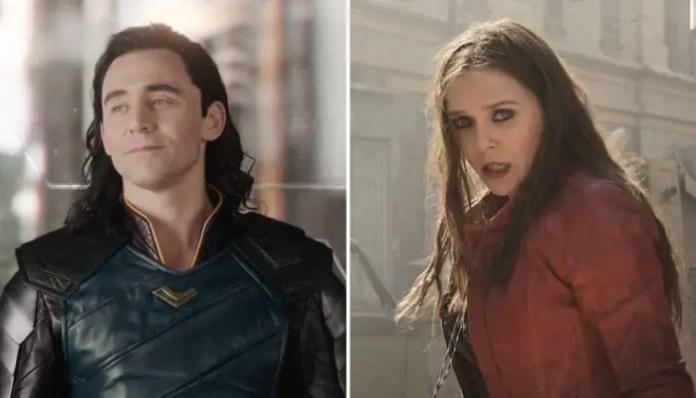 Imagem do Loki e Feiticeira Escarlate