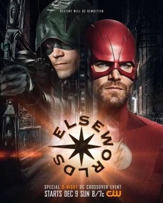 Flash e Arrow trocados no pôster de Elseworlds