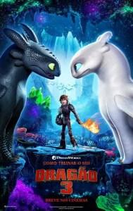 poster de como treinar o seu dragão 3