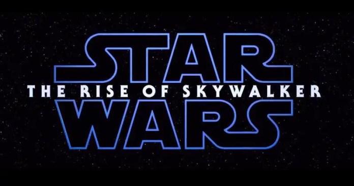 Logo do filme Star Wars Rise of Skywalker