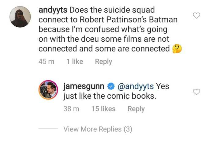 James Gunn no instagram