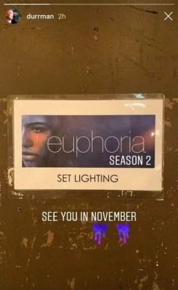 Euphoria série 2 temporada stories