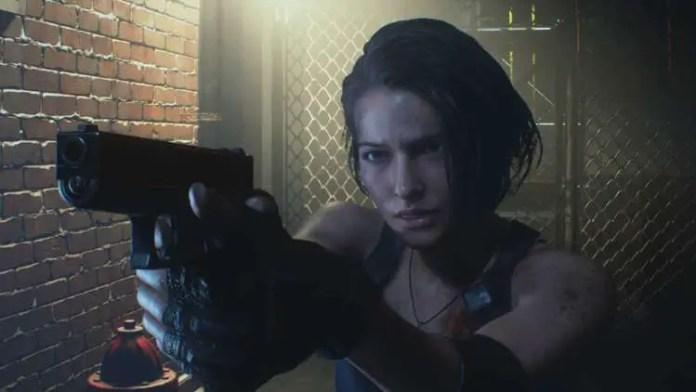 Jill Valentine nas Ruas de Raccoon city em Resident Evil 3