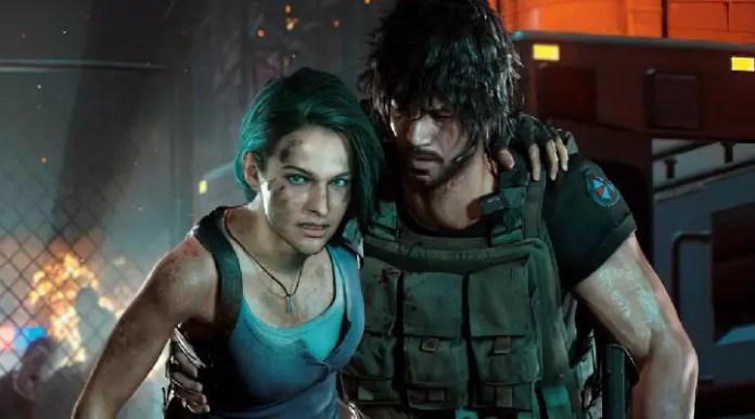Jill e Carlos em Resident Evil 3
